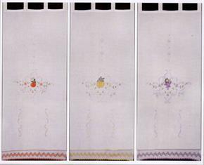 Tenda ricamata Claus FRUTTA 60 x 150 cm Coppia tendine 10% Poliestere
