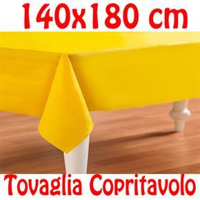 Copritavolo Cotone Tovaglia Gialla Rettangolare Tinta Unita 140 x 180 cm 100% cotone