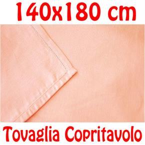 Copritavolo Cotone Tovaglia Rosa Salmone Rettangolare Tinta Unita 140 x 180 cm 100% cotone
