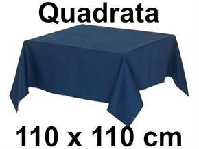 Tovaglia Cotone 110 X 110 cm Quadrata Tinta Unita 100% Cotone