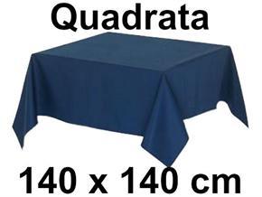 Tovaglia Cotone 140 X 140 cm Quadrata Tinta Unita 100% Cotone