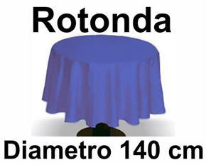 Tovaglia Cotone diametro 140 cm Rotonda Tinta Unita 100% Cotone