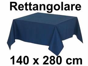 Tovaglia Cotone 140 X 280 cm Rettangolo Tinta Unita 100% Cotone