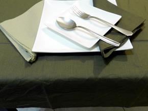 Tovaglia Cotone Marrone Tinta Unita: Rettangola, Rotonda, Quadrata 100% Cotone