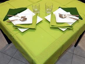 Tovaglia Cotone Verde Chiaro Tinta Unita: Rettangola, Rotonda, Quadrata 100% Cotone