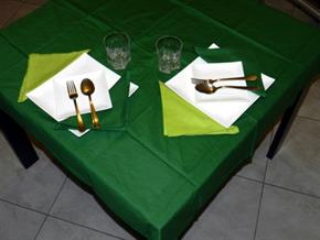 Tovaglia Cotone Verde Scuro Tinta Unita: Rettangola, Rotonda, Quadrata 100% Cotone