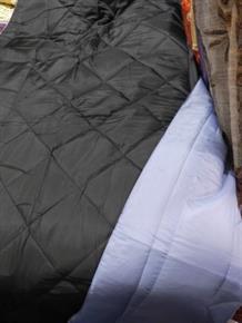 Trapuntino Copriletto Singolo 1 Piazza Microfibra DoubleFace Nero / Azzurro Trapuntino in 100% poliestere 160x260 cm